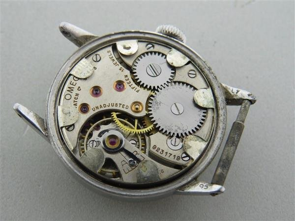 Rare 1936 Vintage Omega Stainless Watch - 2