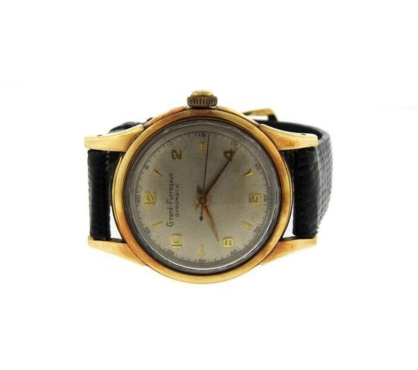 Girard Perregaux Gyromatic 14k Gold Automatic Watch