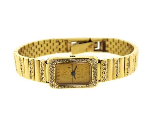 Corum 18k Gold 24k Gold Dial Diamond Lady's Watch - 2