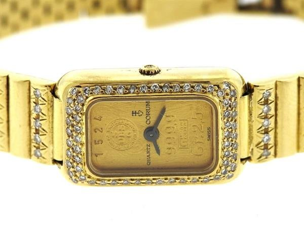Corum 18k Gold 24k Gold Dial Diamond Lady's Watch - 3