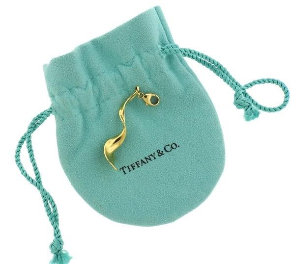 Tiffany & Co.  Gehry 18K Gold Orchid Drop Pendant - 4
