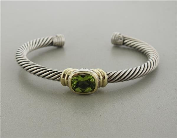 David Yurman Noblesse 14K Gold Sterling Peridot Cable