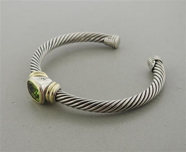 David Yurman Noblesse 14K Gold Sterling Peridot Cable - 2