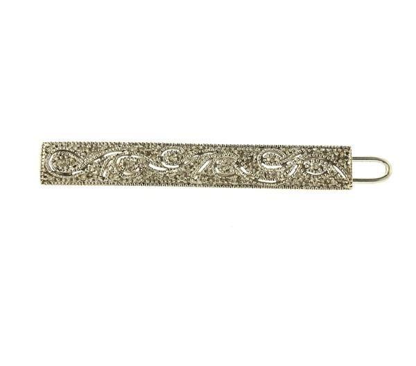 14k Gold Diamond Hair Bar Pin