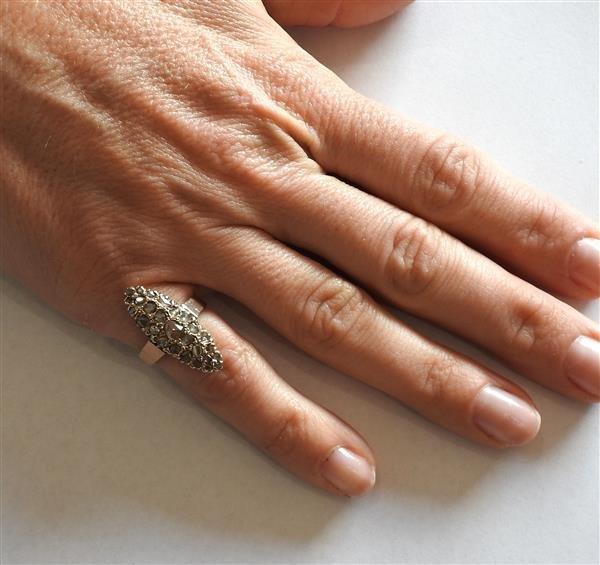 Antique 14k Gold Rose Cut Diamond Ring - 4