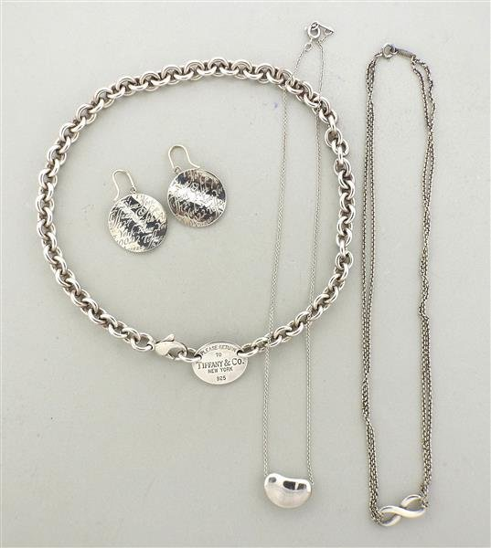 Tiffany & Co. Sterling Silver Earrings Necklace Lot