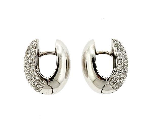 18k Gold Diamond Huggie Earrings - 3