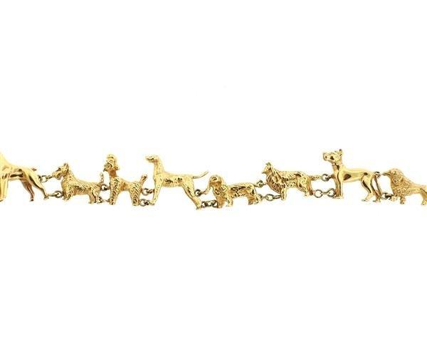 Antique 14K Gold Dog Bracelet - 2