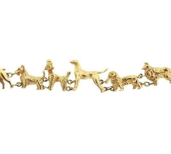 Antique 14K Gold Dog Bracelet - 3