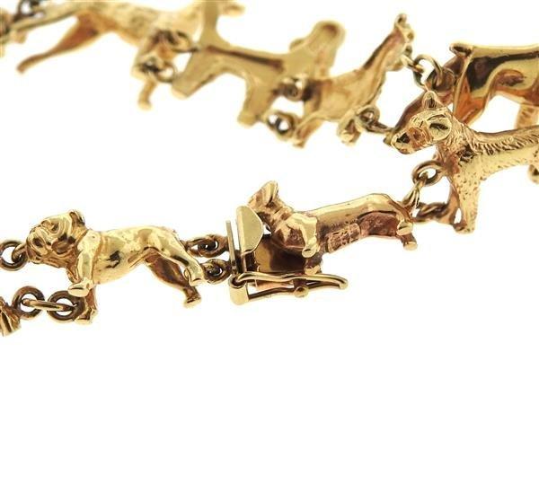Antique 14K Gold Dog Bracelet - 6