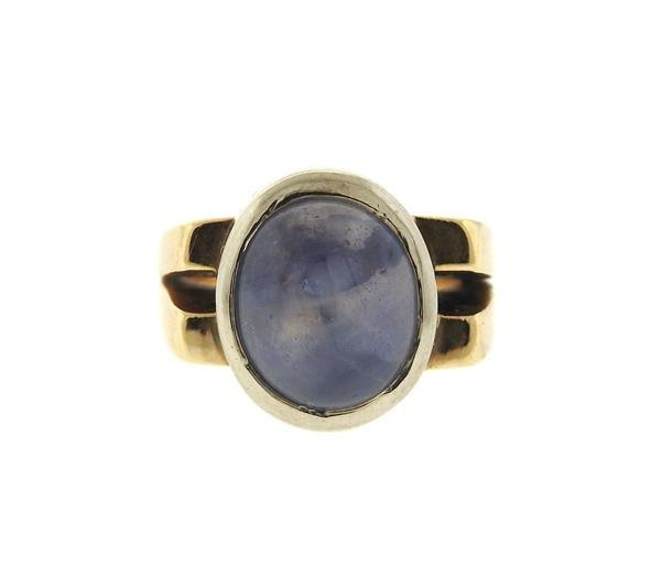 14k Gold 13ct Star Sapphire Cabochon Ring