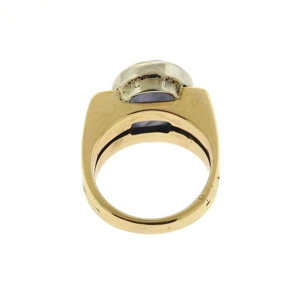 14k Gold 13ct Star Sapphire Cabochon Ring - 3