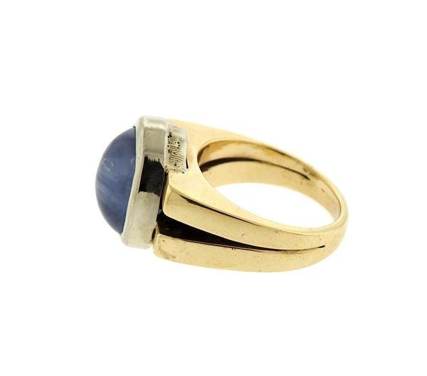 14k Gold 13ct Star Sapphire Cabochon Ring - 4