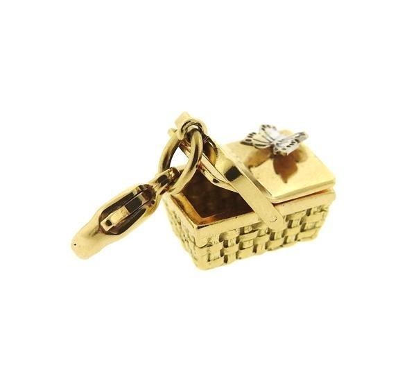 Tiffany & Co 18k Gold Basket 3D Charm Pendant - 2