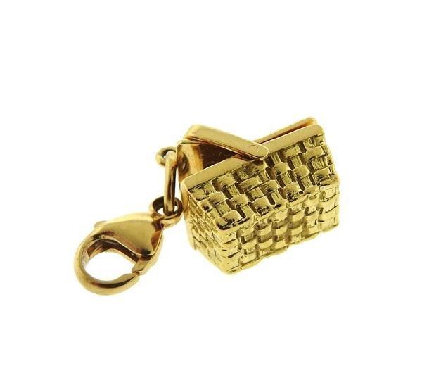 Tiffany & Co 18k Gold Basket 3D Charm Pendant - 3