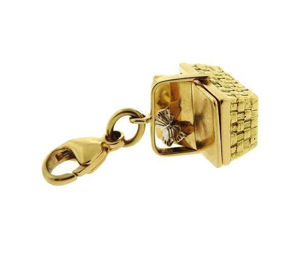Tiffany & Co 18k Gold Basket 3D Charm Pendant - 4
