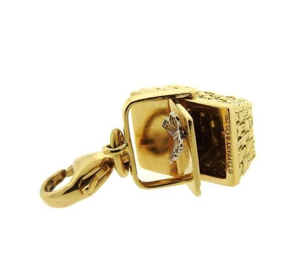 Tiffany & Co 18k Gold Basket 3D Charm Pendant - 5
