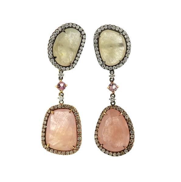 18k Gold Diamond 25.82ctw Multi Color Sapphire