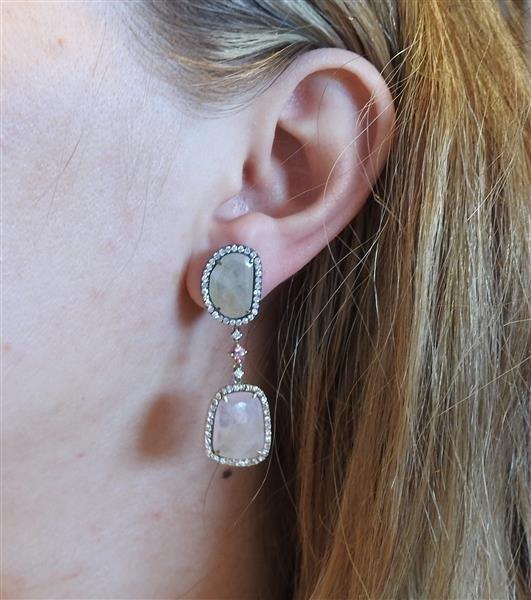 18k Gold Diamond 25.82ctw Multi Color Sapphire - 4