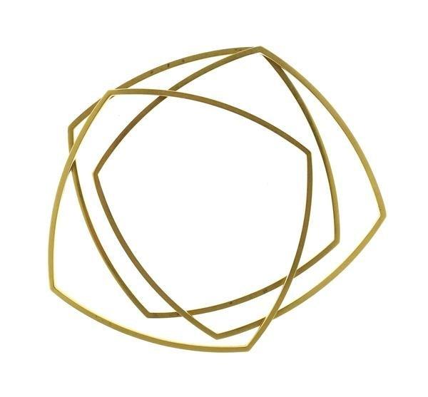 Tiffany & Co Gehry 18K Gold Square Bracelet Set of