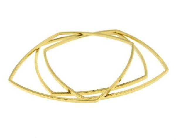 Tiffany & Co Gehry 18K Gold Square Bracelet Set of - 2