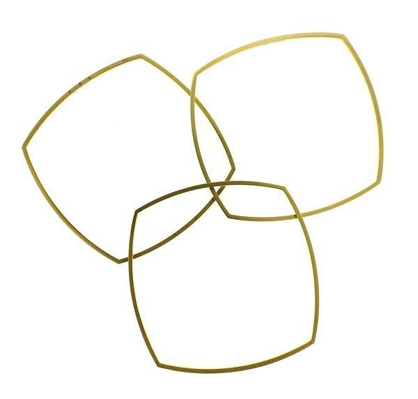 Tiffany & Co Gehry 18K Gold Square Bracelet Set of - 3