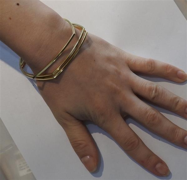 Tiffany & Co Gehry 18K Gold Square Bracelet Set of - 5