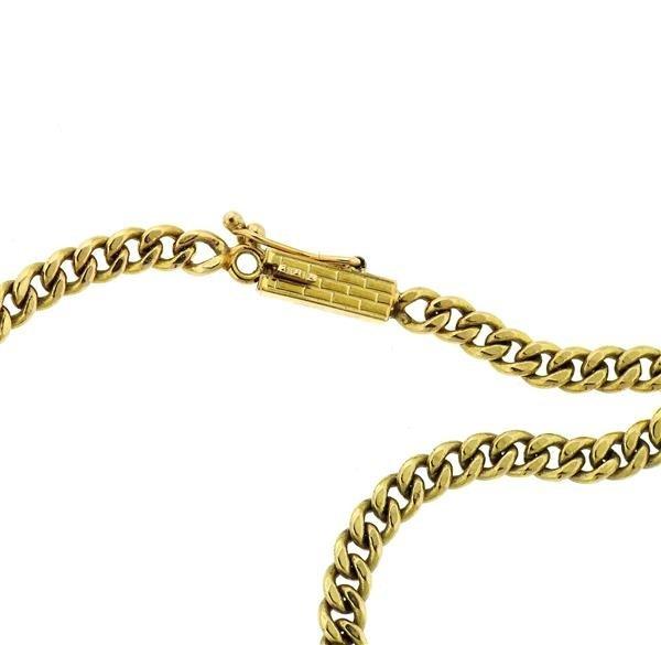 14k Gold Malachite Diamond Pendant Necklace - 5