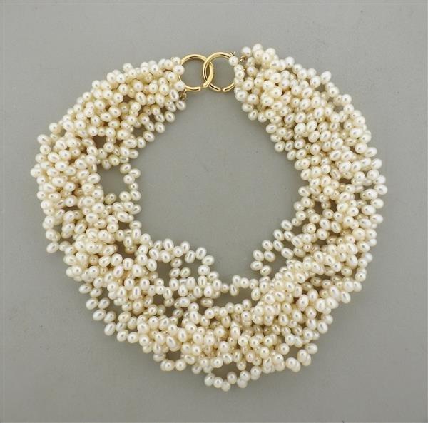Tiffany & Co. Picasso 18k Gold Pearl Torsade Multi