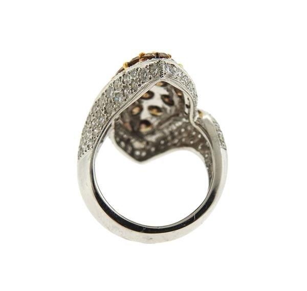 18k Gold Fancy White Diamond Ring Earrings Lot - 4