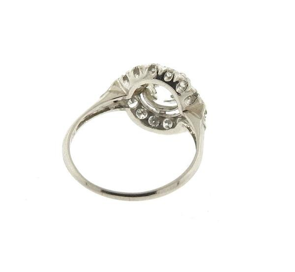 Antique Art Deco Platinum Diamond Engagement Ring - 5