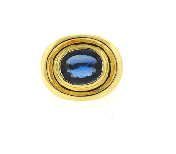 AGL Natural Sapphire 18k Gold Ring