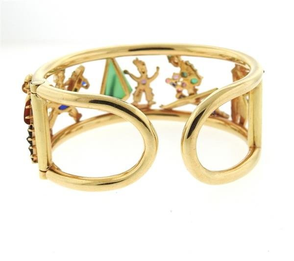Retro 14k Gold Multi Gemstone Bracelet - 3