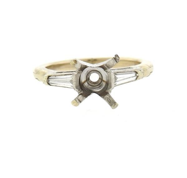 Platinum 14k Gold Diamond Engagement Ring Setting