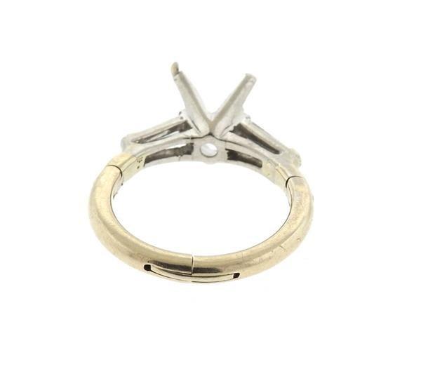 Platinum 14k Gold Diamond Engagement Ring Setting - 3