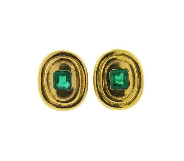 AGL Emerald 14k Gold Earrings