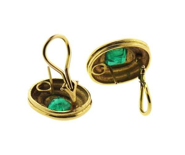 AGL Emerald 14k Gold Earrings - 4