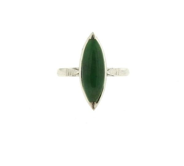 14k Gold Jade Ring