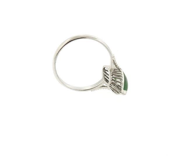 14k Gold Jade Ring - 3