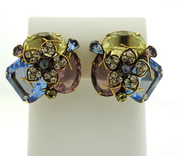 Iradj Moini Multi Color Gemstone Earrings - 2
