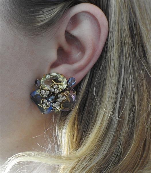 Iradj Moini Multi Color Gemstone Earrings - 5