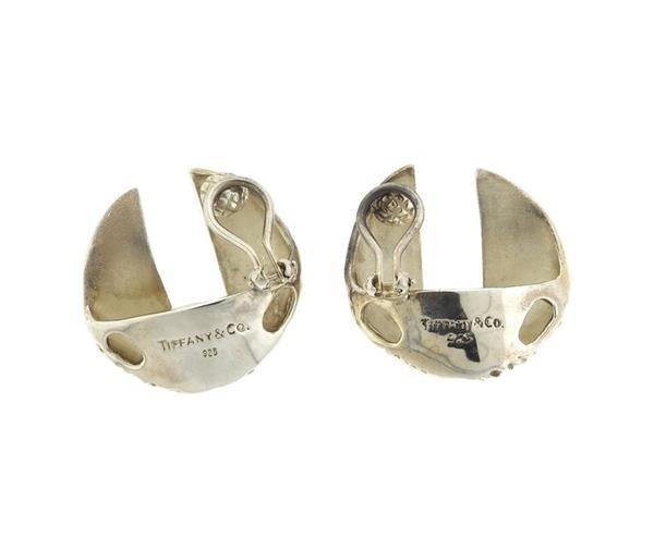 Tiffany & Co Sterling Silver Round Clip Earrings - 3