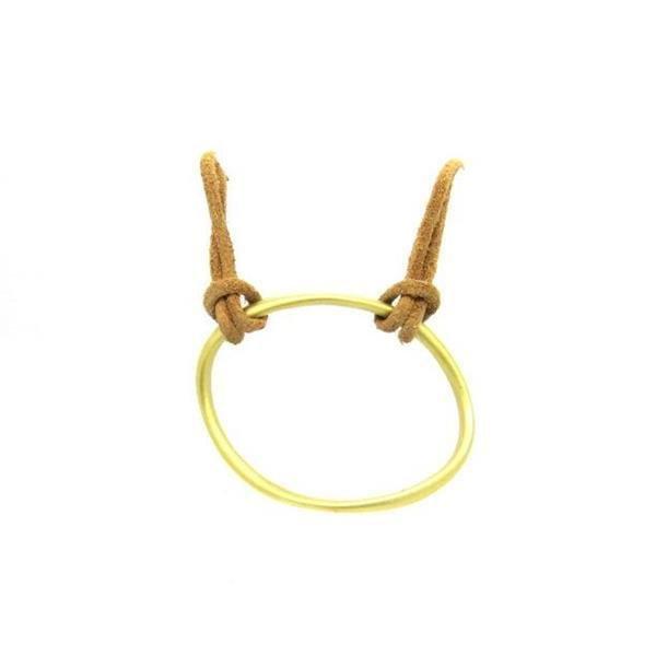Slane & Slane 18k Yellow Gold Twin Link Leather - 2