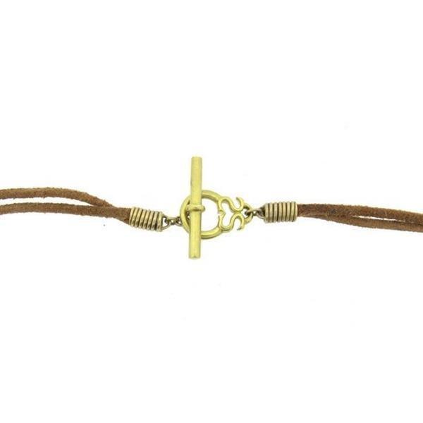 Slane & Slane 18k Yellow Gold Twin Link Leather - 3