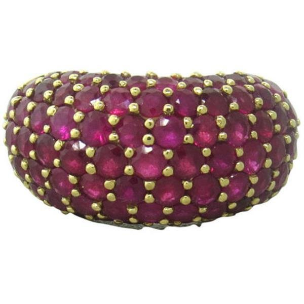 Ruby 18k Gold Dome Ring