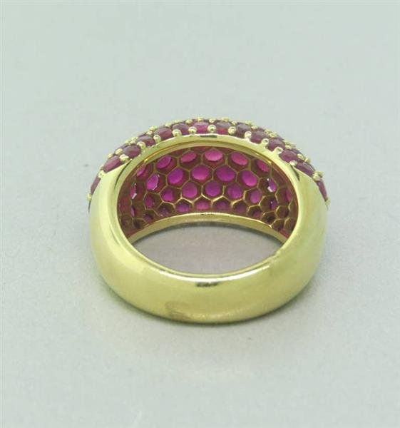 Ruby 18k Gold Dome Ring - 3