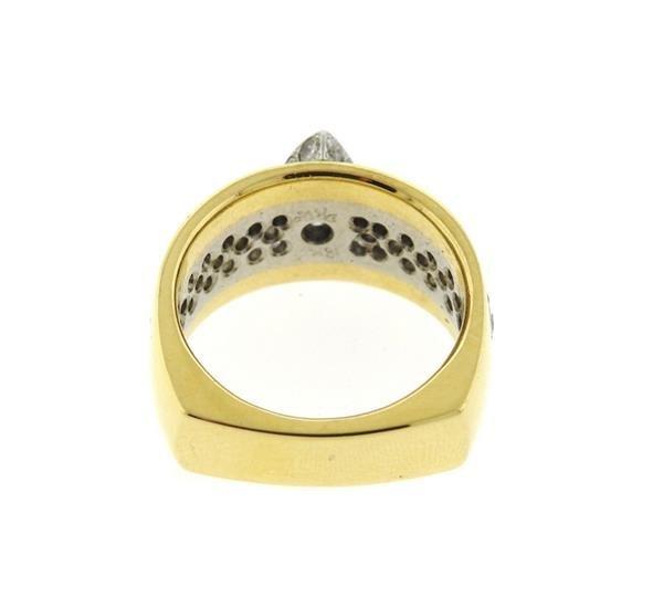 18K Gold Diamond Engagement Ring - 3