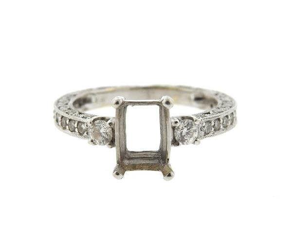 14K Gold Diamond Engagement Mounting Ring