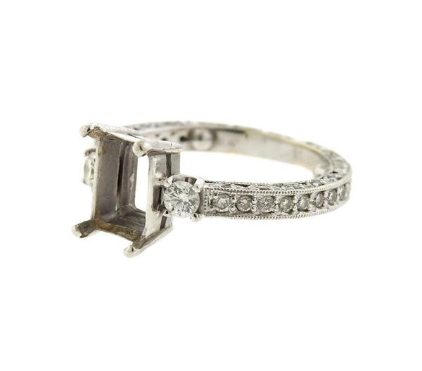 14K Gold Diamond Engagement Mounting Ring - 2