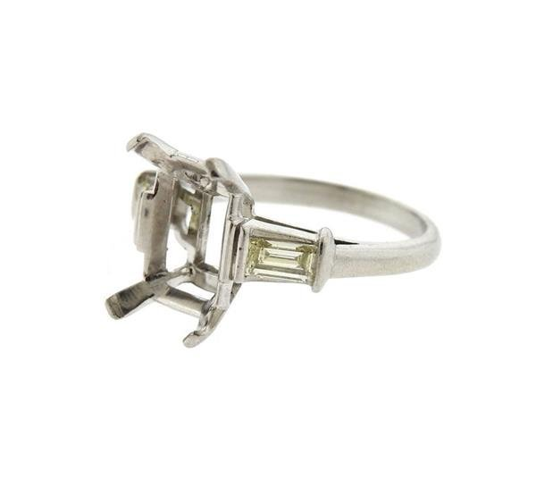 Platinum Diamond Engagement Ring Setting - 2
